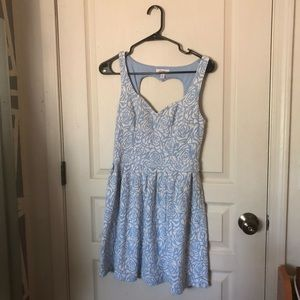 Candies Blue and White Sleeveless Dress